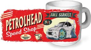 Koolart PERTOLHEAD SPEED SHOP Design For Mitsubish Lance Evo 6 Ceramic Tea Or Coffee Mug